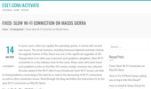 Fixed: Slow Wi-Fi Connection on MacOS Sierra - Eset.com/activate