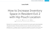 How to Increase Inventory Space in Resident Evil 2 with Hip Pouch Location